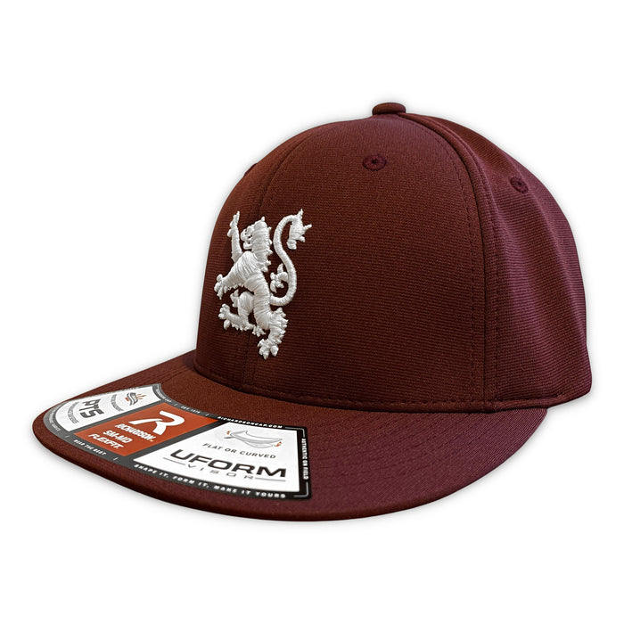 Original Lion Fitted Hat in Maroon/White