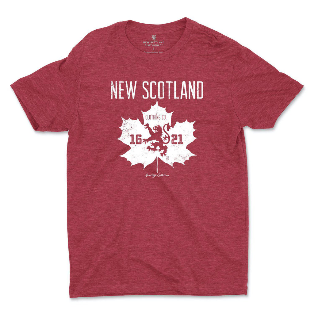 50/50 Organic Recycled Canadian Heritage T-shirt in Heather Red