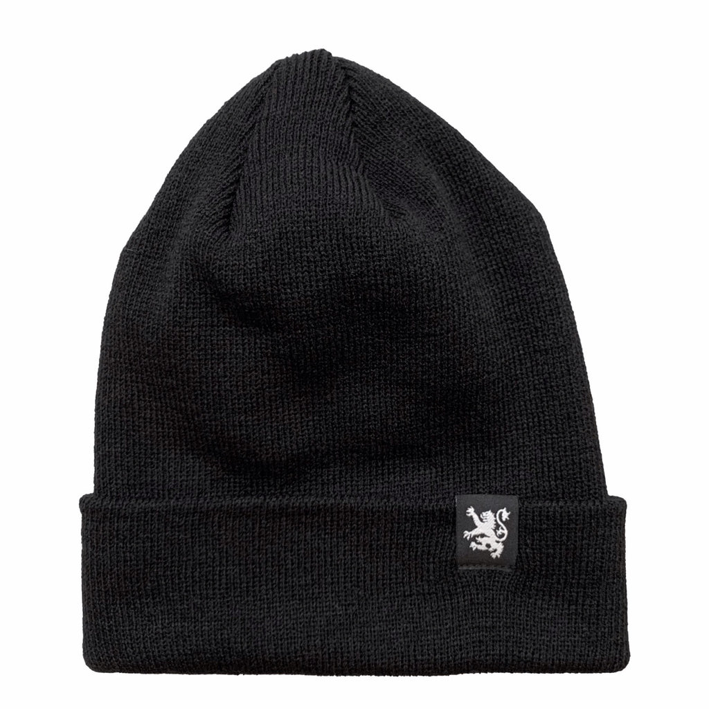 Classic Lion Tight Knit Toque in Black