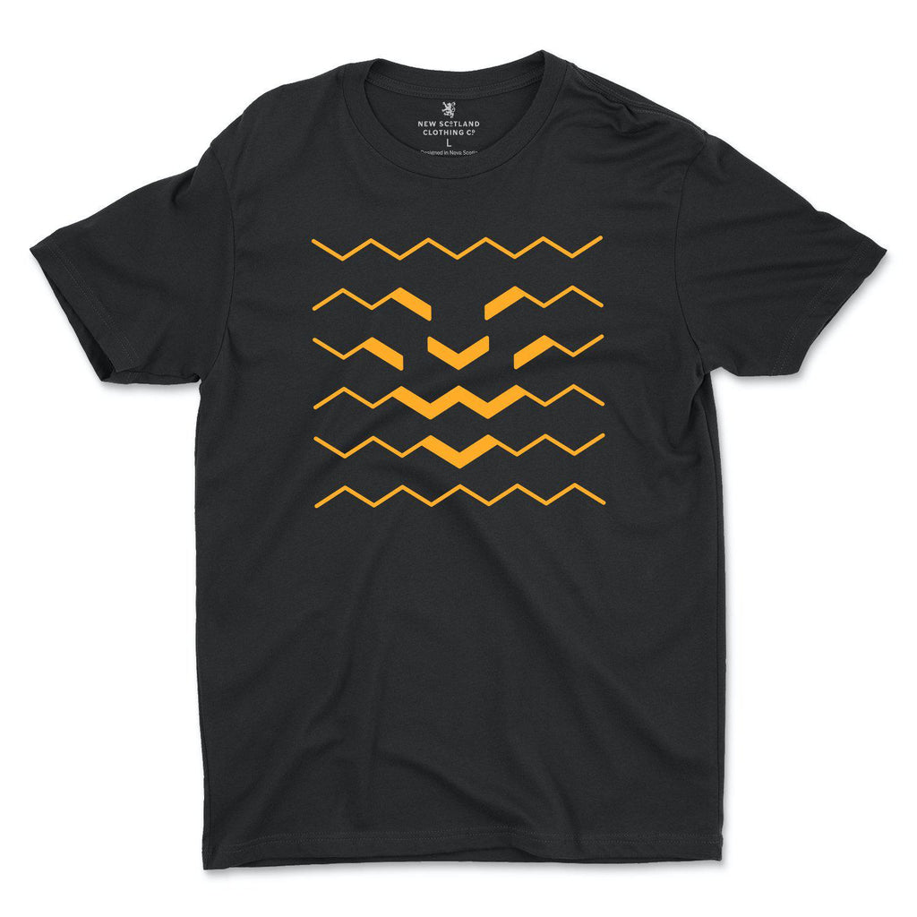 100% Ring Spun Lion Wave T-Shirt in Black/Gold
