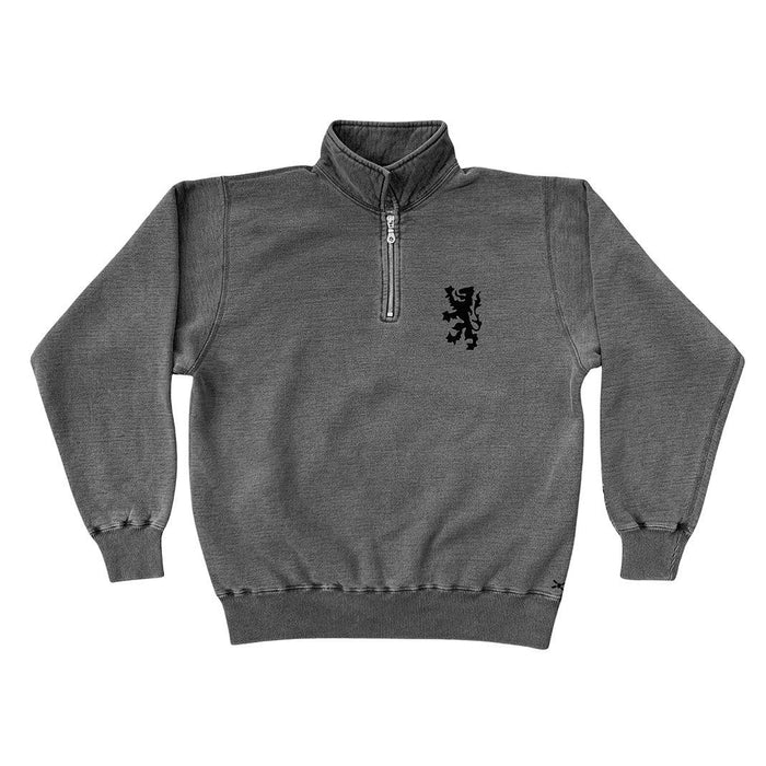The Cottage Polo-Zip Sweatshirt in Black Sand