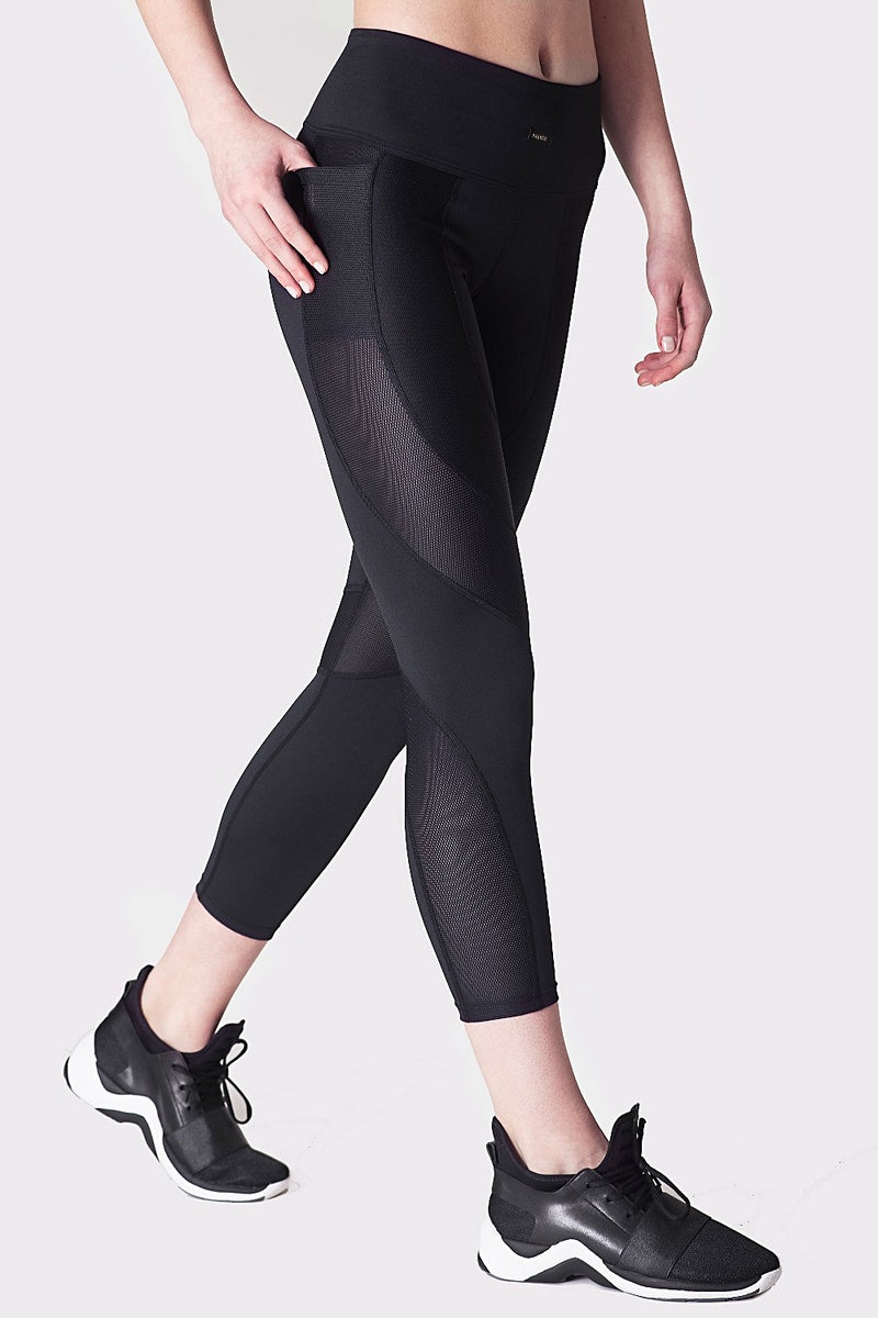 Racer Crop Leggings Leggings Daquïni