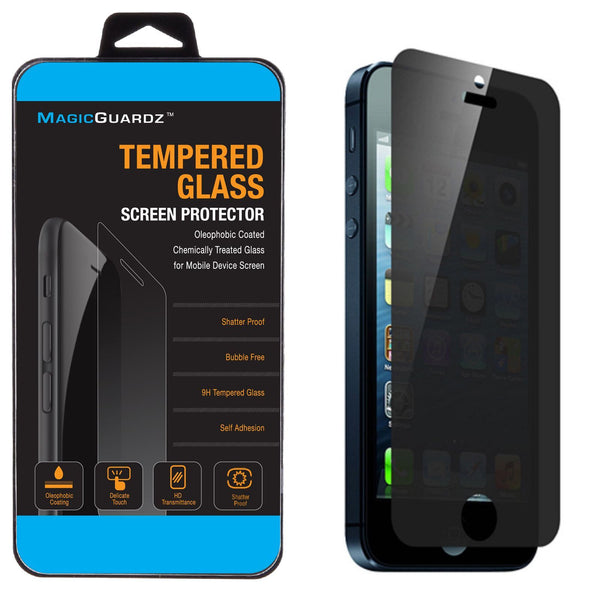 timeless design d8c66 1d017 MagicGuardz® - Made for Apple iPhone 5 5C 5S - Privacy Anti-Spy Tempered  Glass Screen Protector