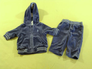 Training 2pc velours ras bleu, Ralph Lauren