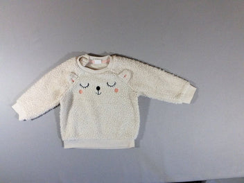 Pull peluche ours blanc