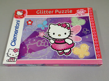 Glitter Puzzle 104 pièces Hello Kitty