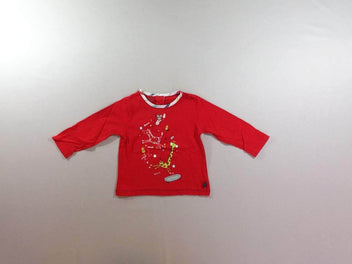 T-shirt m.l rouge animaux