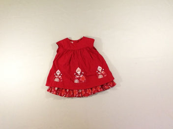 Robe m.c rouge filles doublure