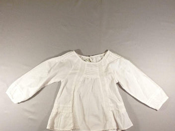 Blouse m.l blanche broderie anglaise