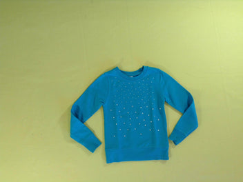 Sweat léger turquoise strass