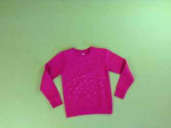Sweat léger fushia strass
