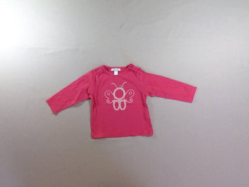 T-shirt m.l rose papillon