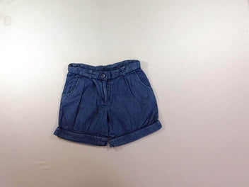 Short denim à revers