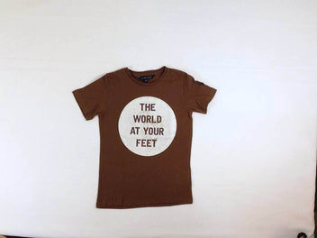 T-shirt m.c brun The world at your feet