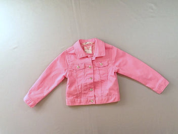 Veste courte denim rose