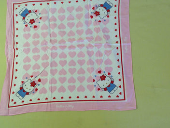 Foulard blanc/rose Hello Kitty