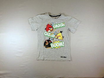 T-shirt m.c gris chiné Angry Birds