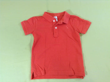 Polo m.c rouge corail