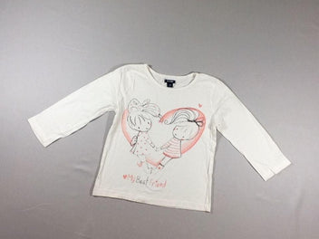 T-shirt m.l blanc cassé Best Friend