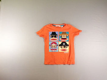 T-shirt m.c orange singes