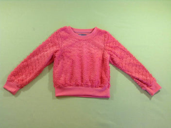 Pull duveteux corail rose