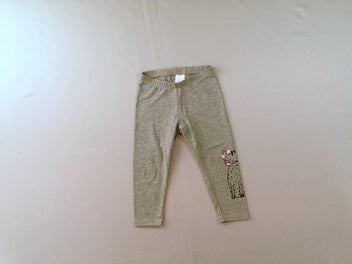 Legging gris chiné chat