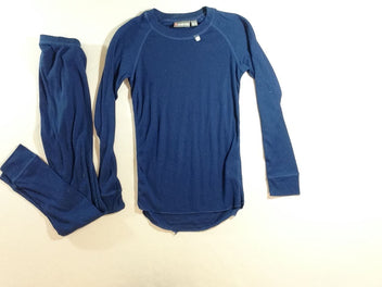 T-shirt m.l bleu foncé thermo + bas, Color Kids