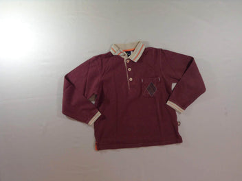 Polo m.l bordeaux