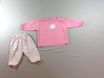 Pyjama 2pcs jersey rose hérisson