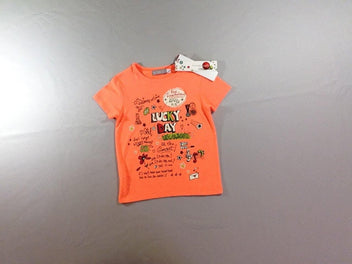 NEUF T-shirt m.c orange néon Lucky