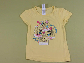 T-shirt m.c jaune « Say cheese »