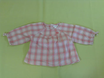 Blouse m.l rose carreaux