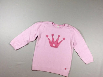 Pull rose couronne