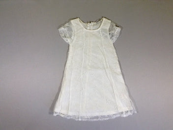 NEUF Robe m.c tulle blanche