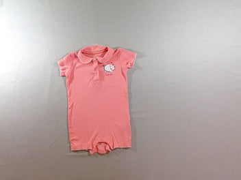 Combishort jersey rose mouton col