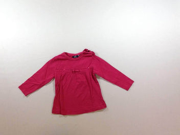 t-shirt m.l fushia noeud sequin