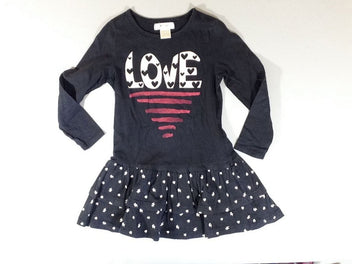 Robe m.l noir volants Love