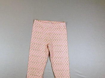 Legging court rose pâle motifs multicolores
