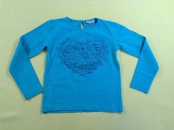 T-shirt m.l turquoise coeur
