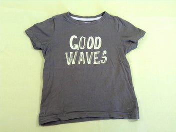 T-shirt m.c kaki « Good waves »