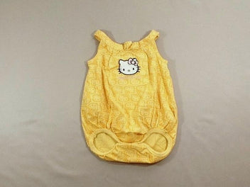 Barboteuse jersey jaune Hello Kitty