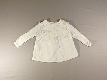Blouse m.l blanche broderies