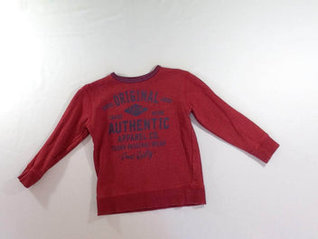 Sweat rouge chiné Authentic