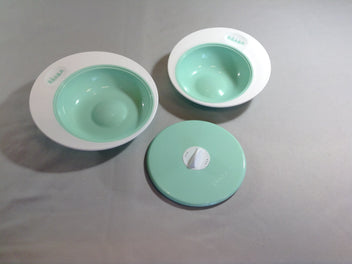 Set assiettes évolutives ellipse bleu