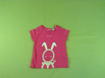 T-shirt m.c rose lapin