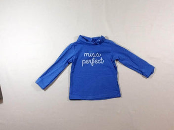 T-shirt col roulé bleu Miss perfect