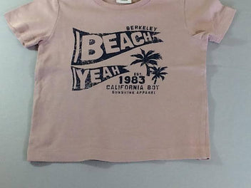 T-shirt m.c rose Beach