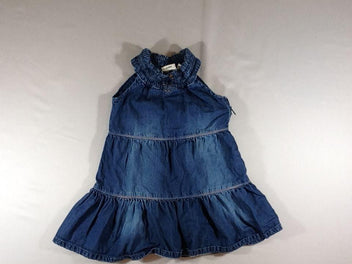 Robe s.m en jean, smocks encolure