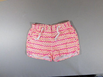 Neuf, Short piscine blanc rose orange
