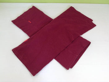 Tri-cotti bordeaux chiné S